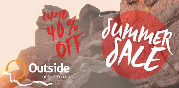 Up to 40% off climbing and outdoor clothing at the outside.co.uk summer sale