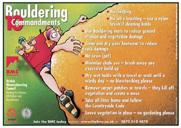 BMC Bouldering 10 Commandments Poster, 45 kb
