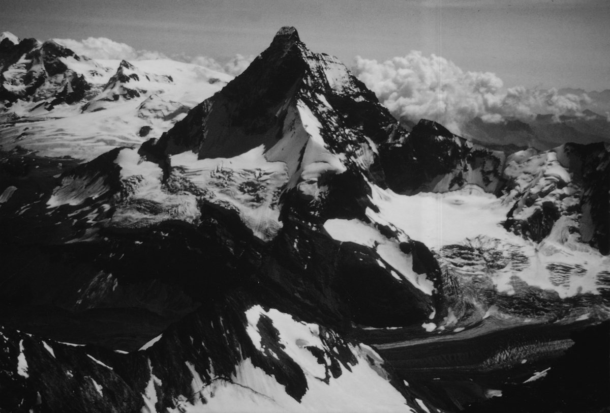 A photograph of the Matterhorn taken by my father in 1981, 140 kb
