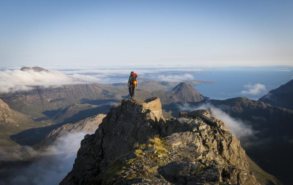 Finishing the Cuillin Ridge traverse on Sgurr nan Gillean , 130 kb