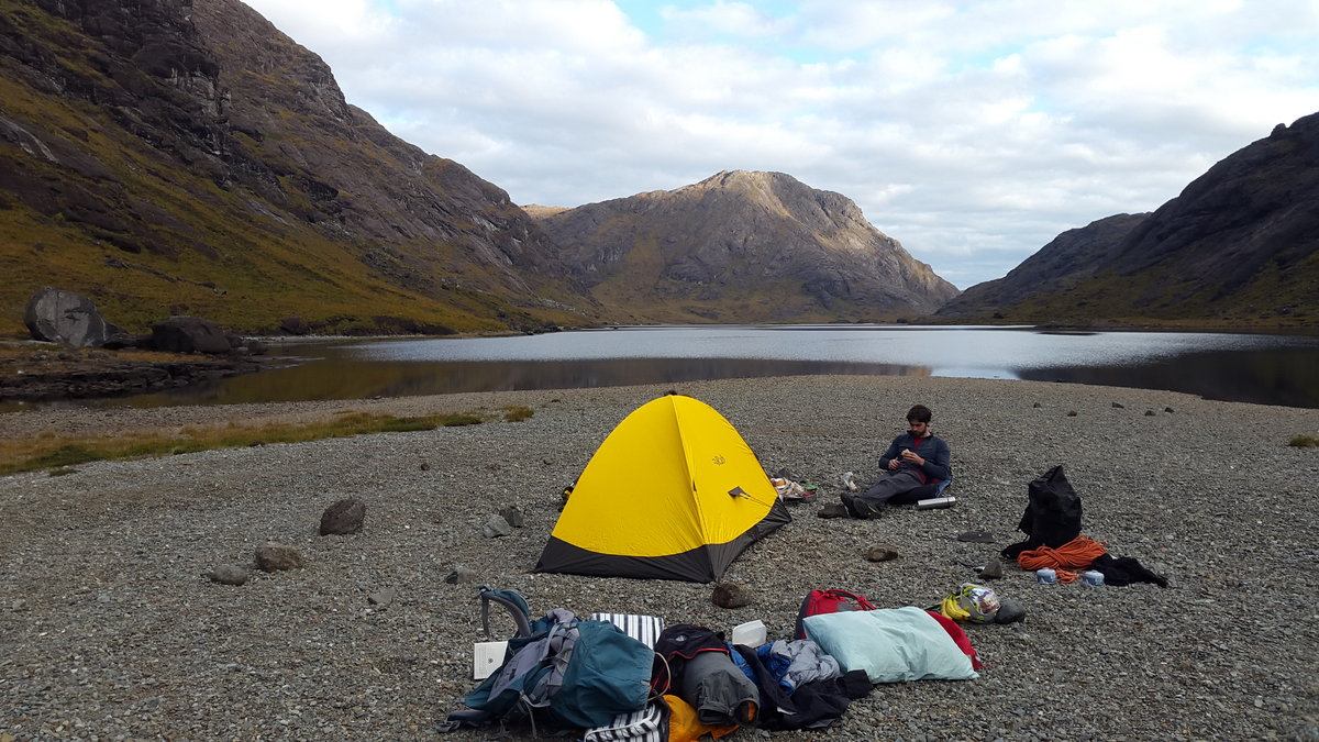 James and Dan's camp at Loch Coruisk, 215 kb