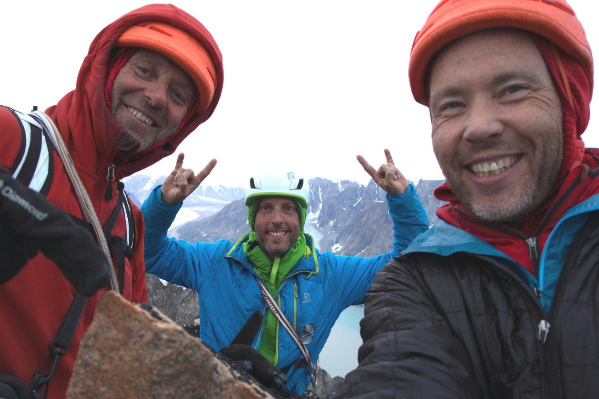 Paul, Robert & David on the Summit, 150 kb