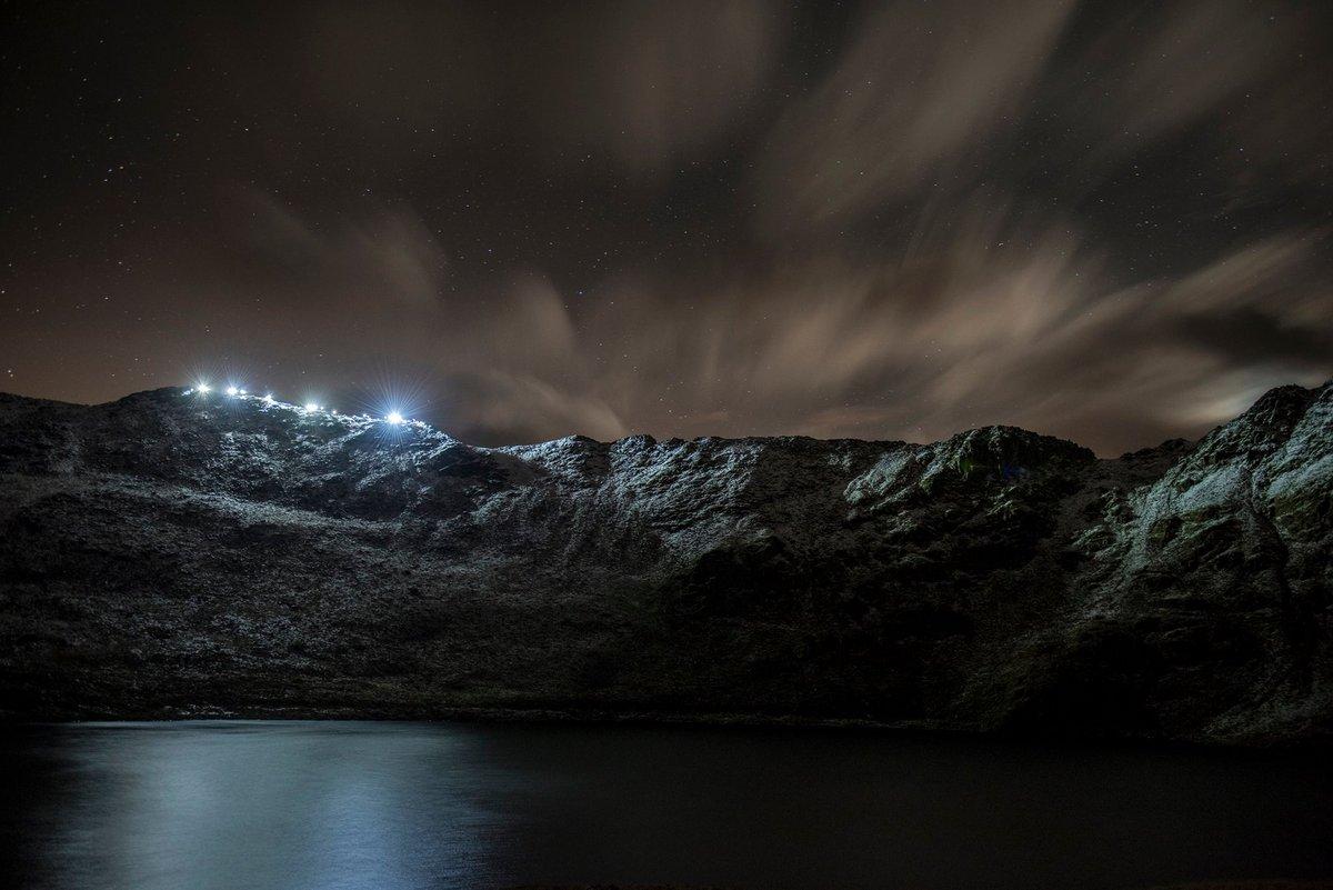 Striding Edge at night, 123 kb
