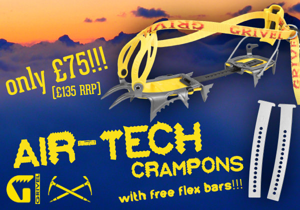 Grivel Air-Tech Crampons with FREE Flex-bars for only 75 at outside.co.uk