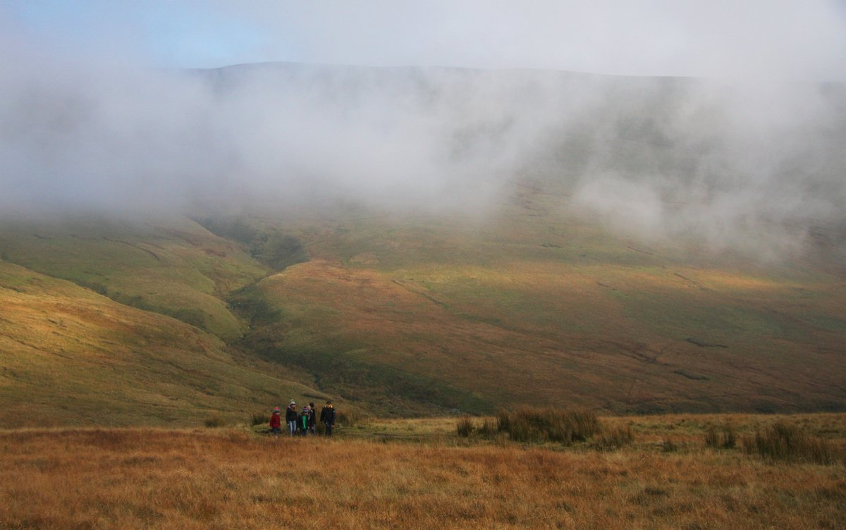 Craig Gwaun Taf emerging out of the mist, the recently confirmed new Nuttall, 128 kb