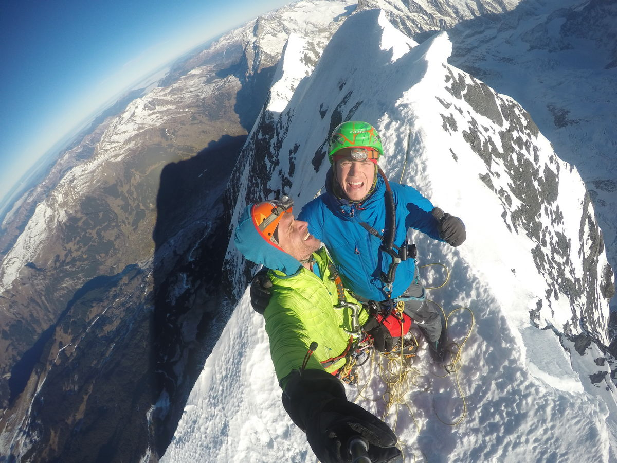 Tom and Marcin on the summit of the Eiger, 253 kb