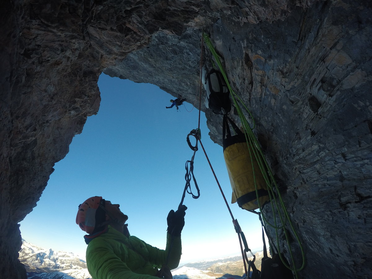 Marcin Tomaszewski and Tom Ballard: adding another chapter to the Eiger North Face's history books, 224 kb