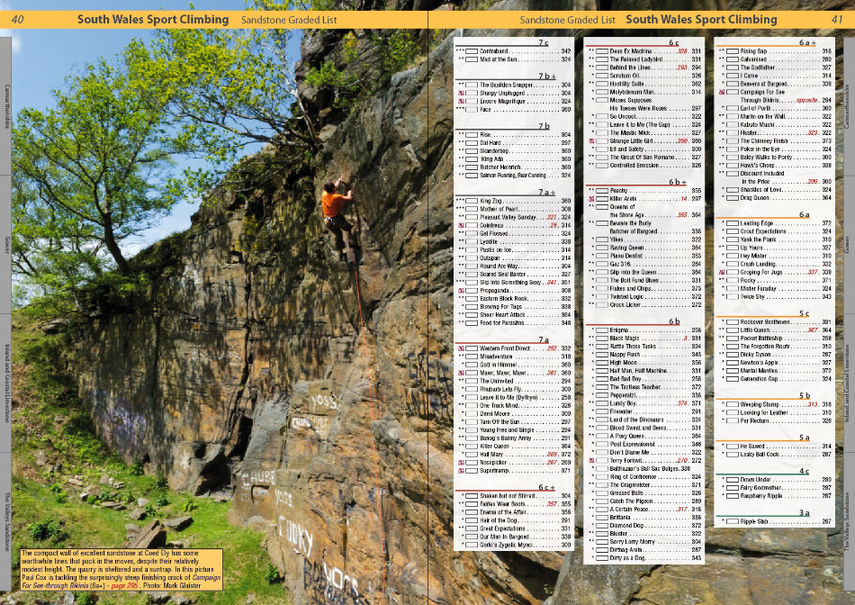 South Wales Sport Climbs Review - Example page 1, 201 kb