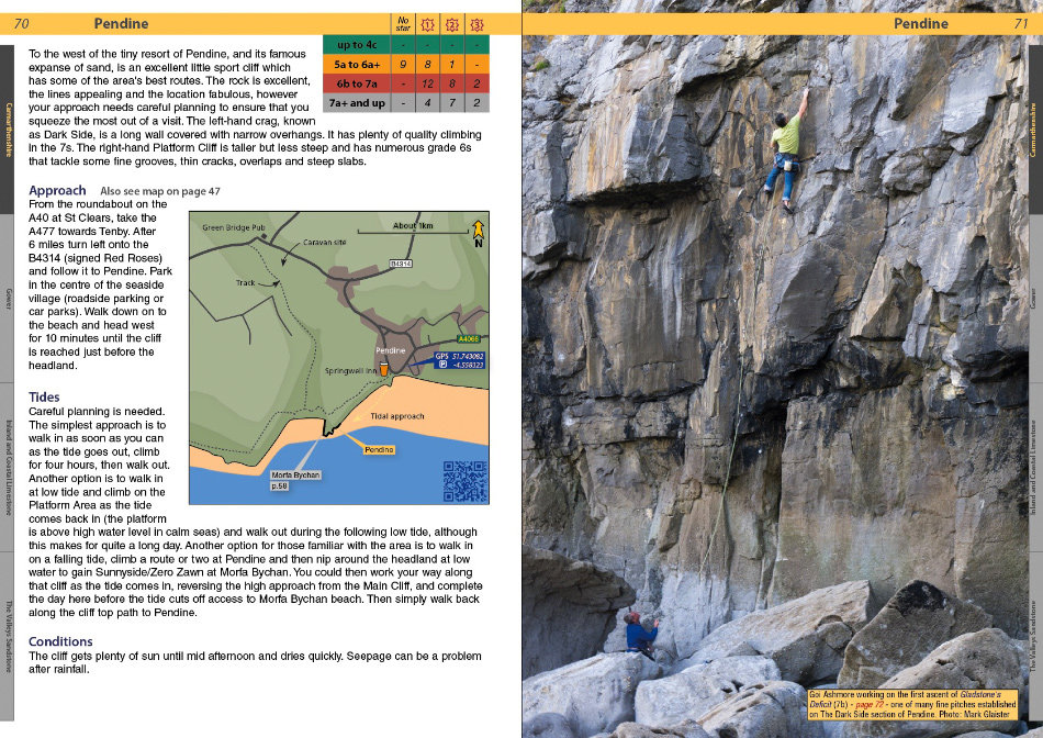 South Wales Sport Climbs Review - Example page 2, 221 kb