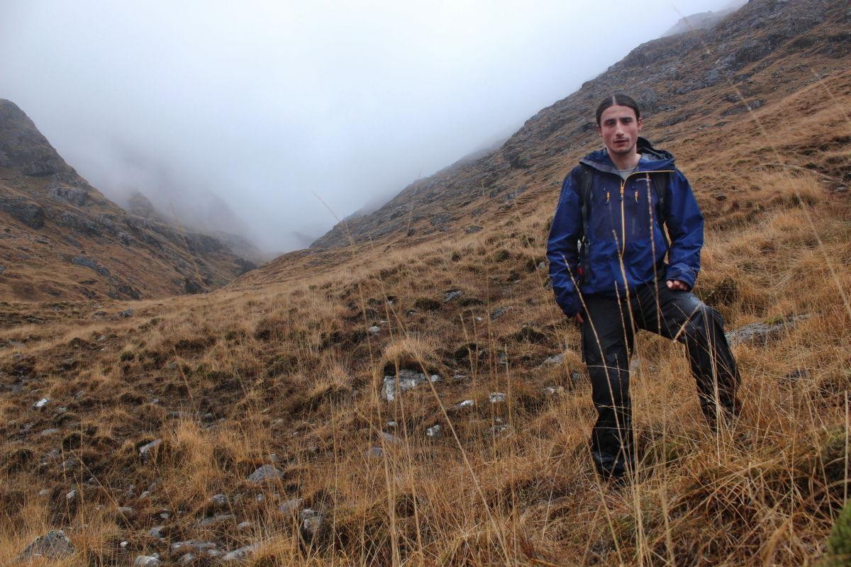 At the foot of Ben Aden, about to get a thorough soaking, 209 kb