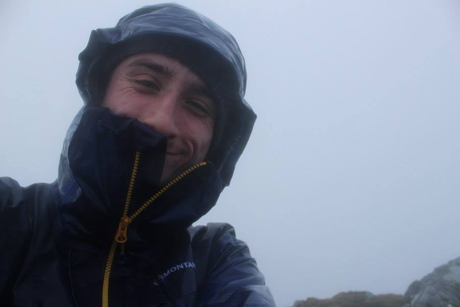 Foul weather on Ben Aden - a good test for waterproofs, 21 kb