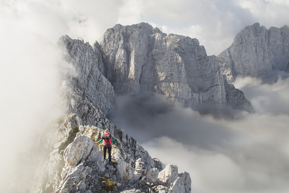 Traverse from Ponza to Mangart, Julian Alps., 164 kb
