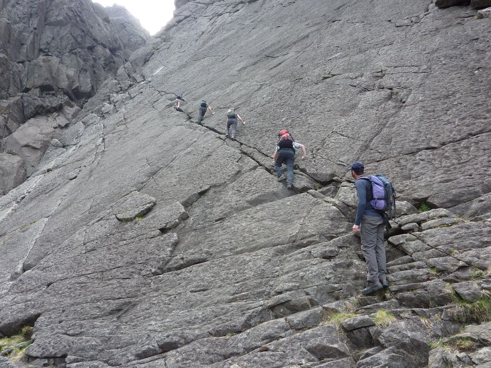 The slabs near Eastern Gully, Cioch, Black Cuillin - June 2016, 218 kb