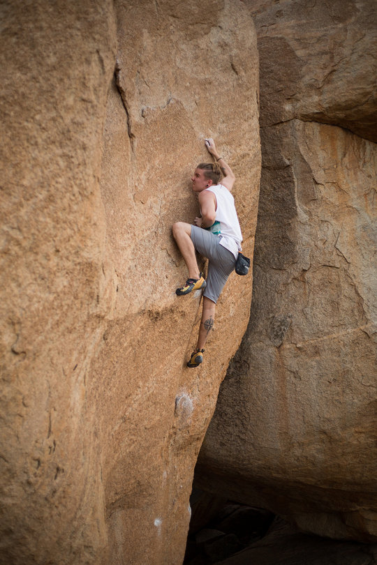 Elias from Finland committing to the top moves of Cosmic Crimp (6B+), 139 kb