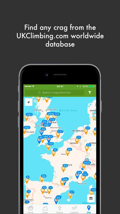 Rockfax App Version 2.0 - UKC Crags Database, 51 kb