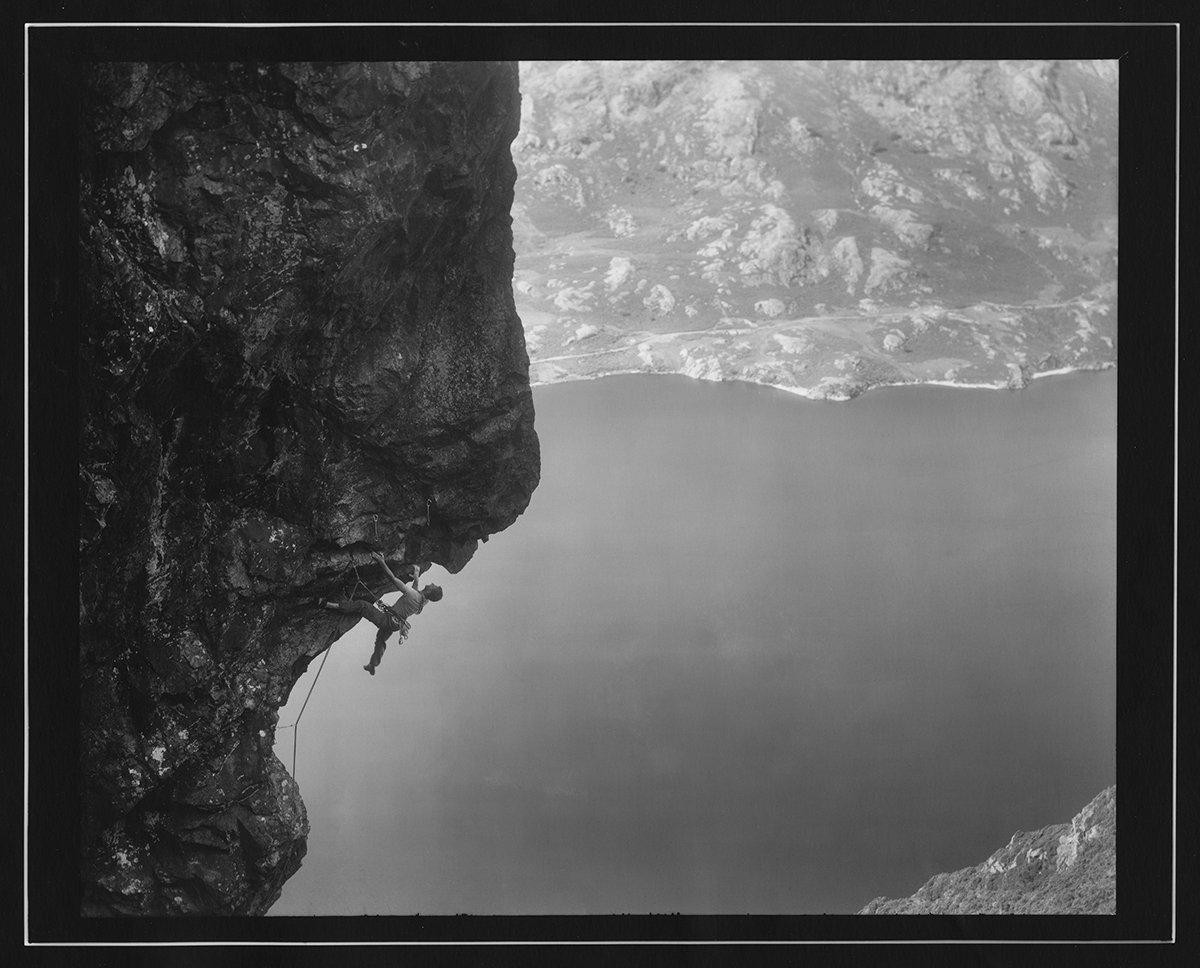 Chris Fisher climbing 'Nowt Burra Fleein' thing' E8 6c, Cam Crag, Wasdale., 166 kb