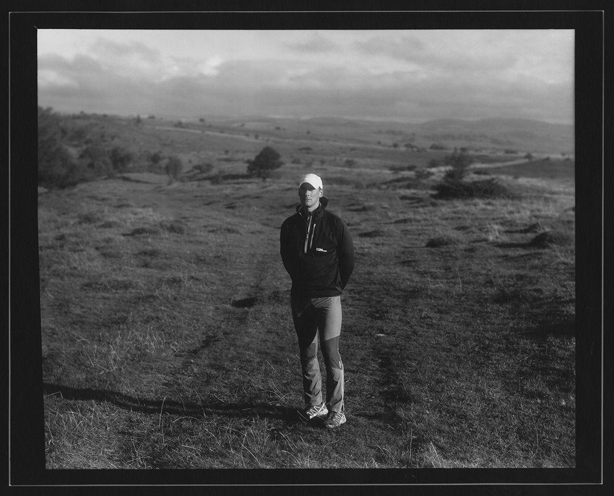 Ultra runner Darren Wilson on Scout Scar above Kendal., 194 kb