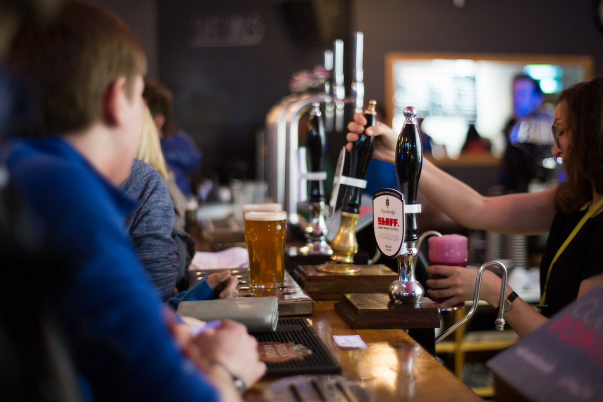 The Showroom bar with the Thornbridge ShAFF pale ale, 154 kb