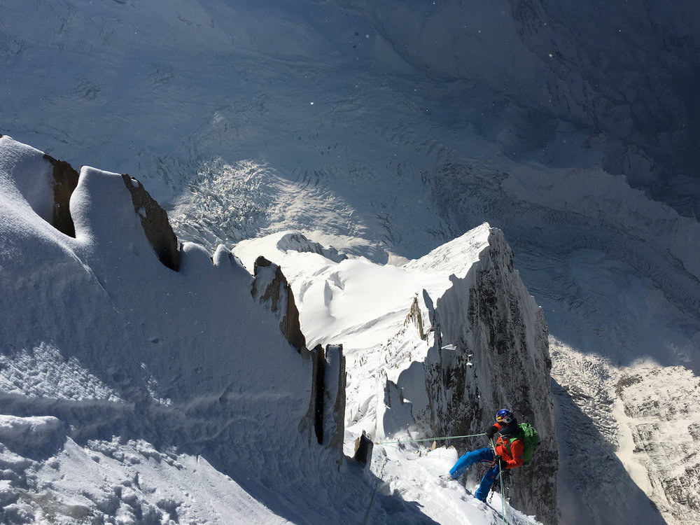 The magnificent looking Annapurna III ridge