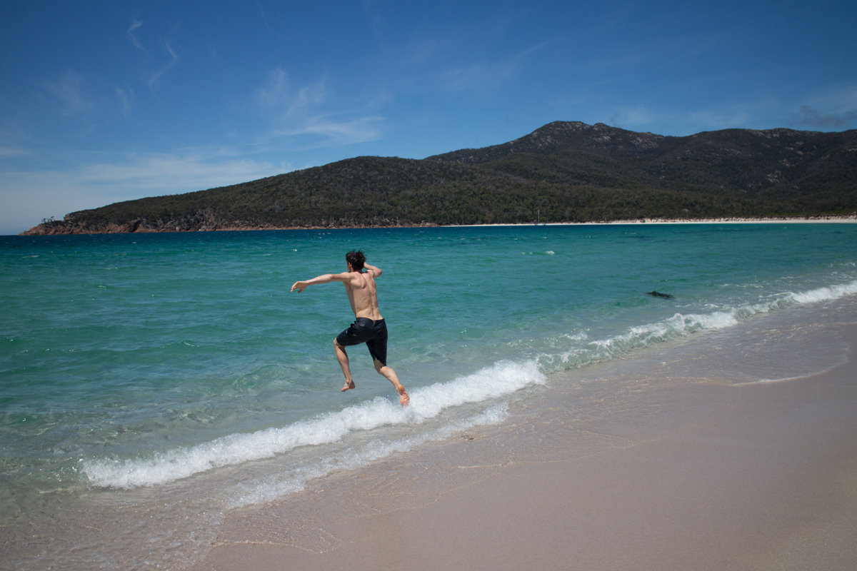 The immaculate beach/water at Wineglass Bay, 153 kb