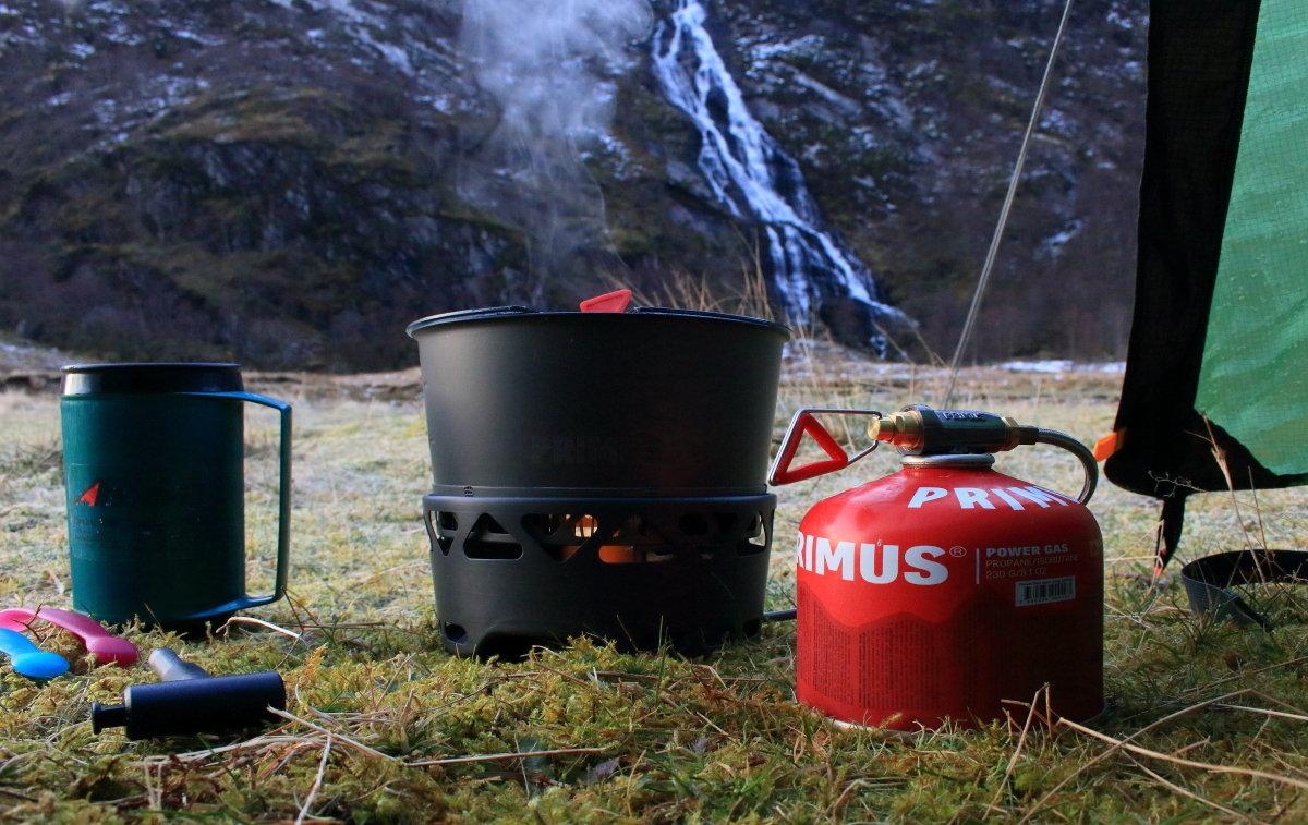 Early morning brew in a frosty Glen Nevis, 217 kb