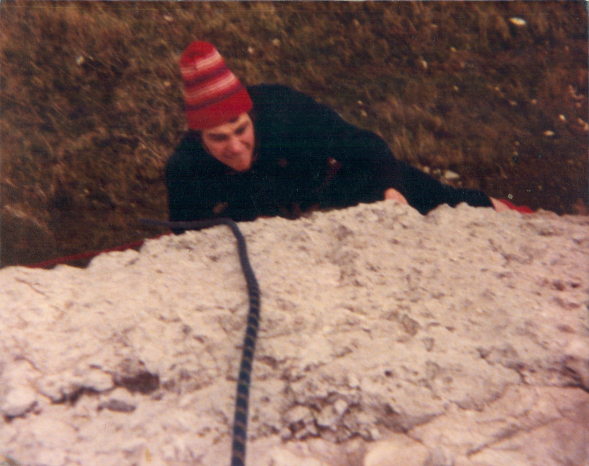 16 year-old Jerry seconding P1 of Mayfair at Pen Trwyn - no falls - on our FFA., 238 kb