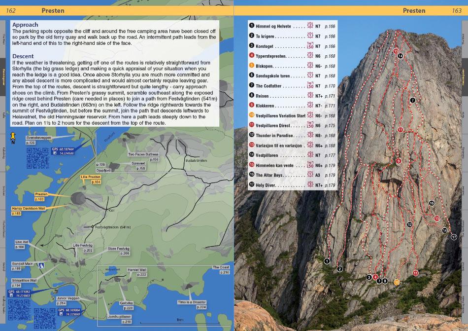 Lofoten Climbs Rockfax - example page, 217 kb