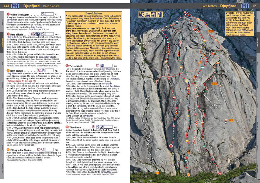 Lofoten Climbs Rockfax - example page, 184 kb