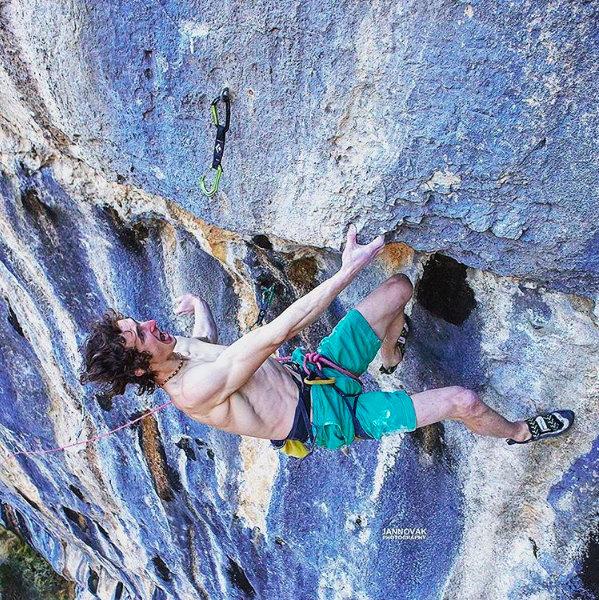 Adam Ondra on Lapsus, 9b, Andonno, Italy, 193 kb