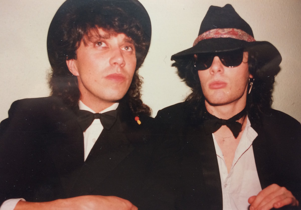 Chris and Andy at a party, 108 kb