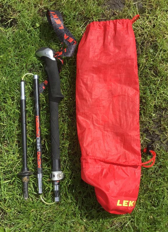 Leki Micro Vario Carbon and bag, 185 kb
