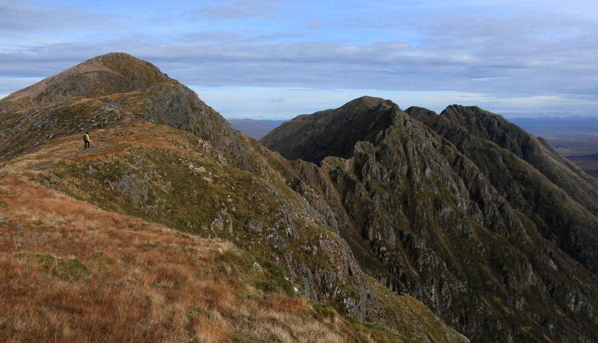 The Aonach Eagach, two Munros on Hazel's hitlist for June, 188 kb