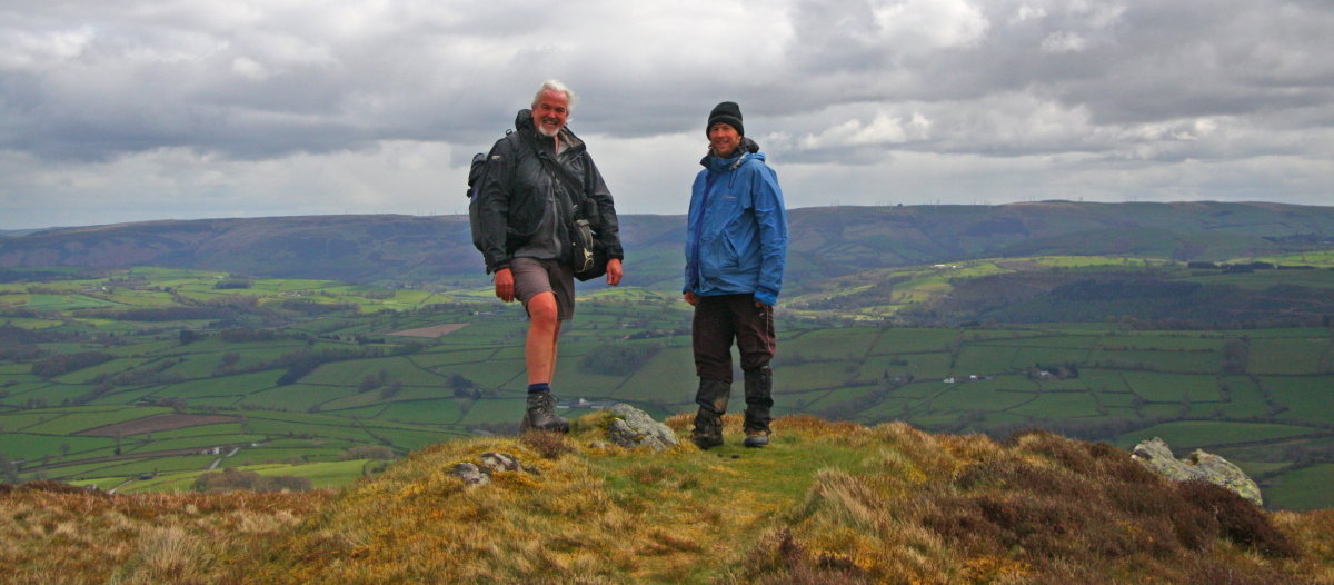Myrddyn (left) with Alex Cameron on Bryn y Fan, 121 kb