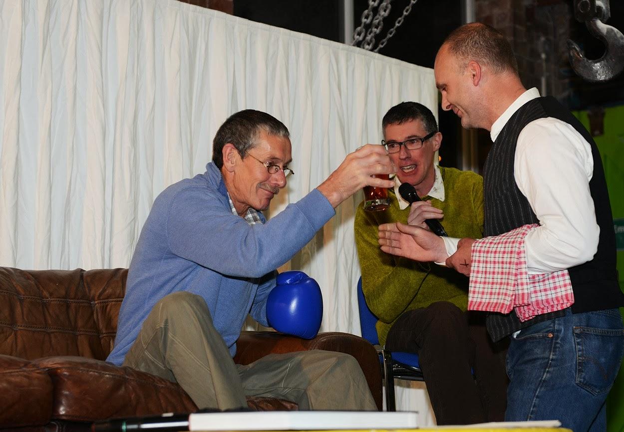 Peak Rock Book launch: Ron Fawcett, Niall Grimes & Mark Leach as 'Manuel', 174 kb
