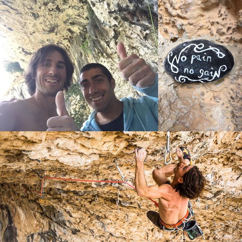 Daniel Fuertes and No pain, no gain, 9a+, 178 kb