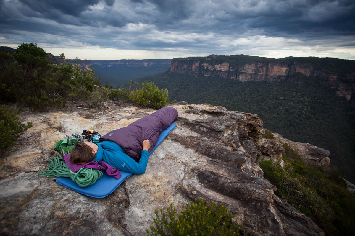 A blustery evening underneath a dark sky in the Blue Mountains, Australia , 214 kb