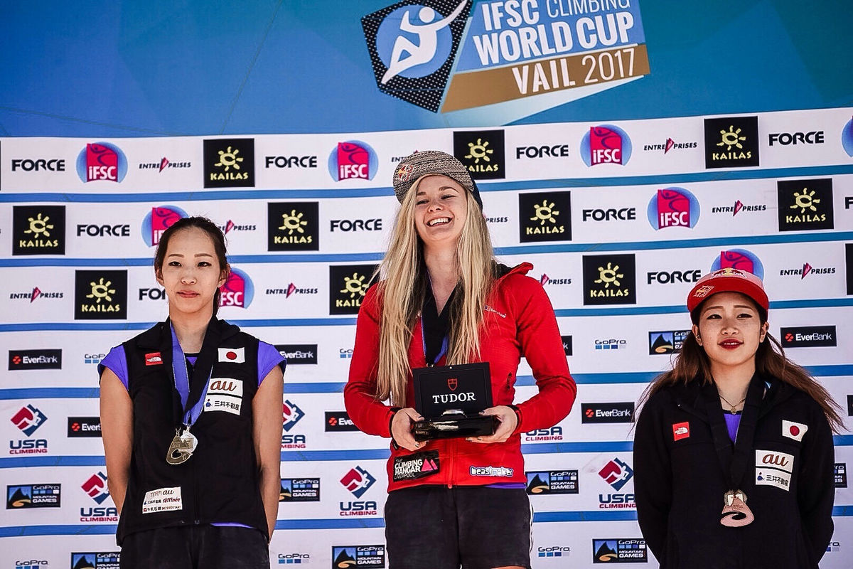 IFSC Vail World Cup 2017 - Women's Podium, 218 kb