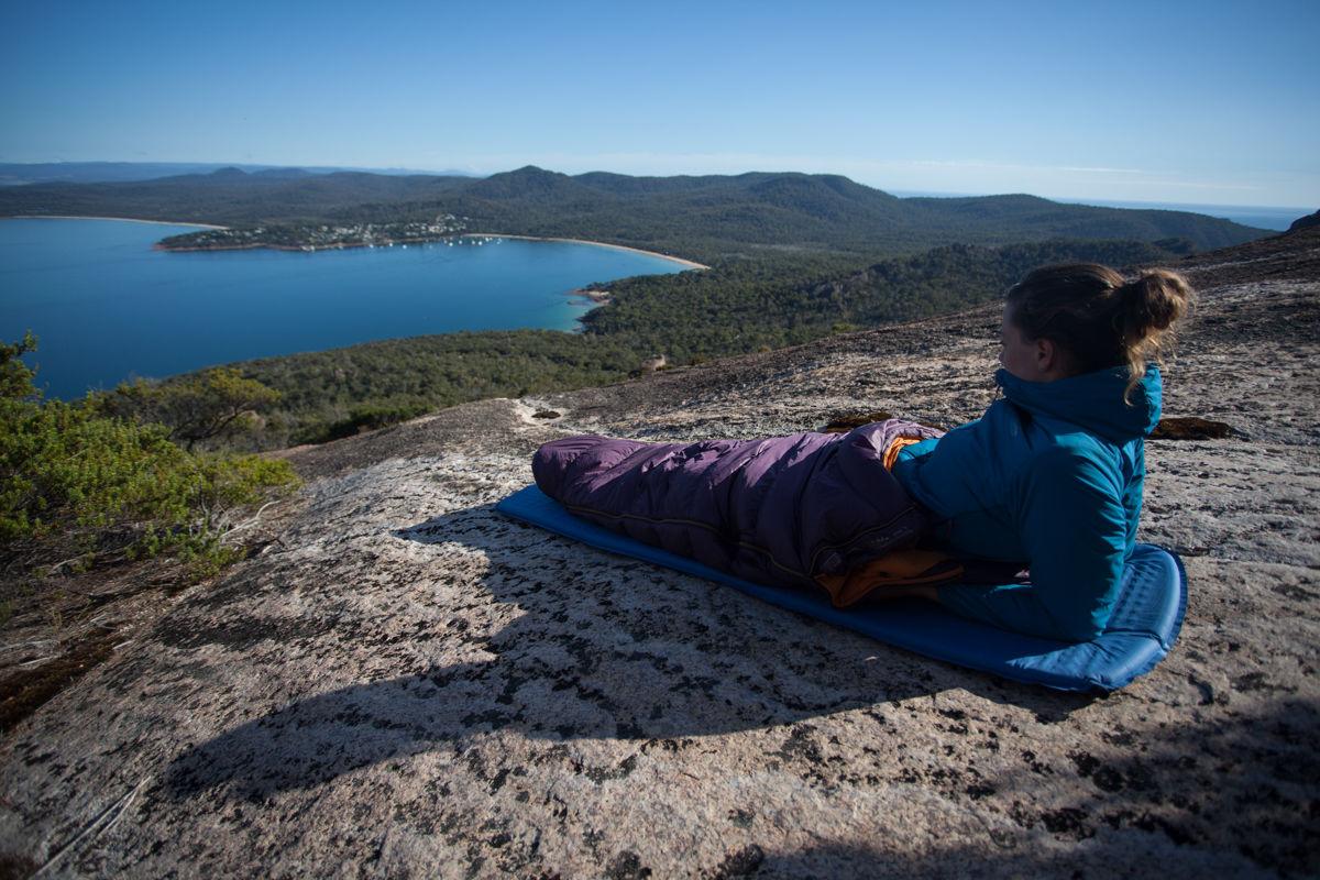 Saving weight in Tasmania with a sub-700g down sleeping bag, 215 kb