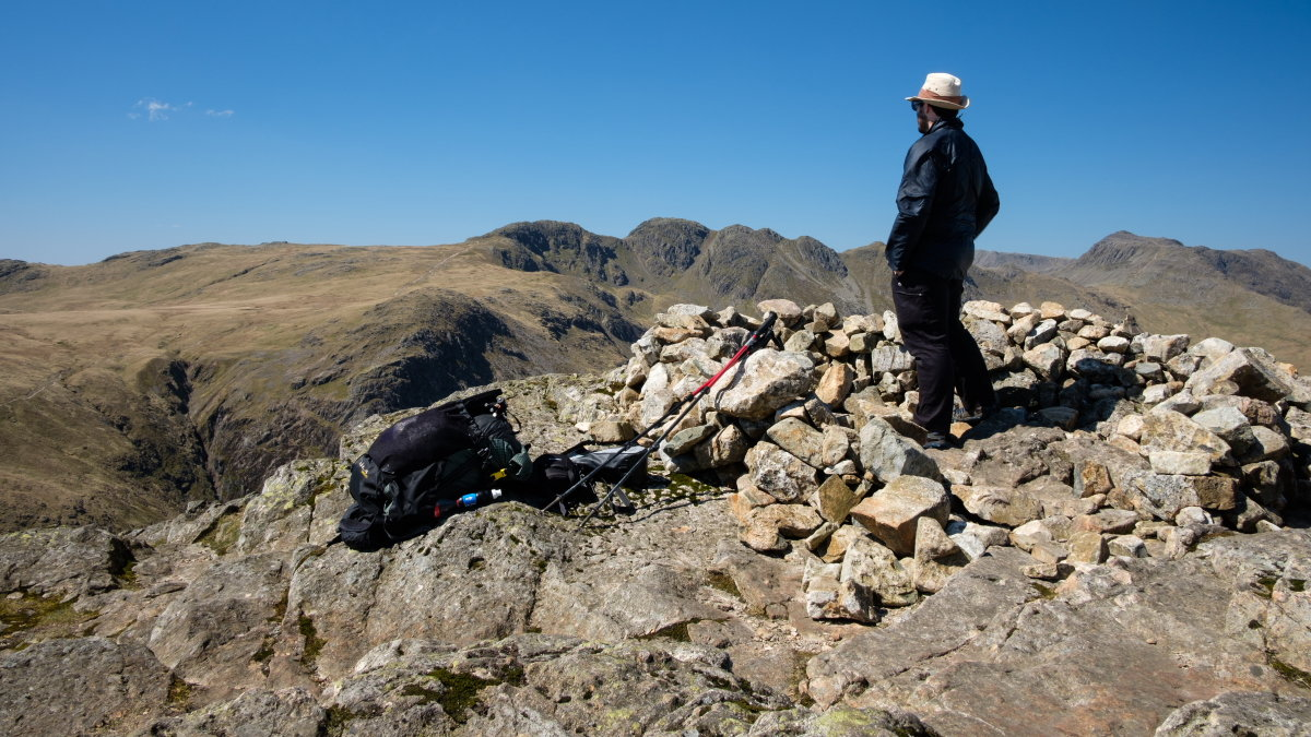 On Pike of Blisco, looking over to Crinkle Crags, 218 kb