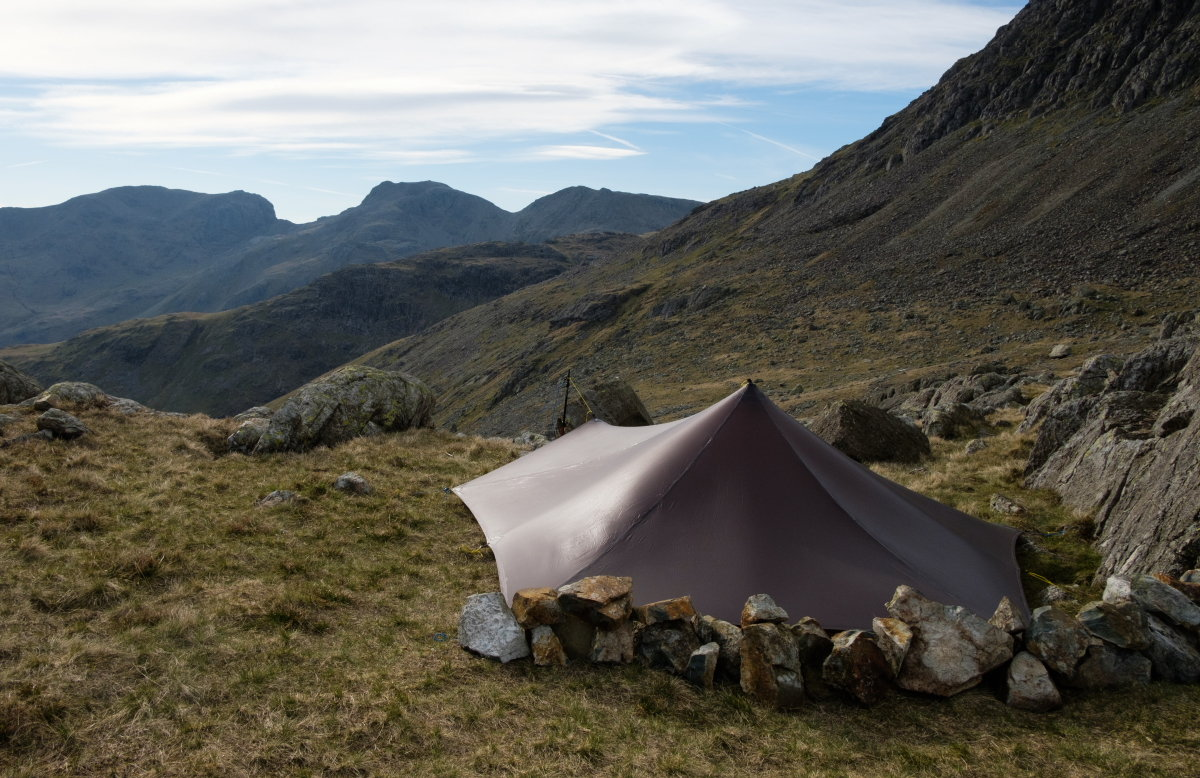 Tarp with a view... of the Scafells, 219 kb
