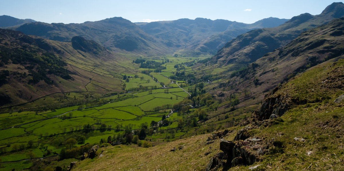 Nearing the end of the circuit, looking back to the Langdale skyline, 188 kb