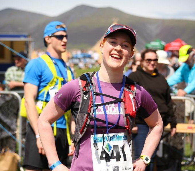 Claire at the Keswick Mountain Festival marathon, 91 kb