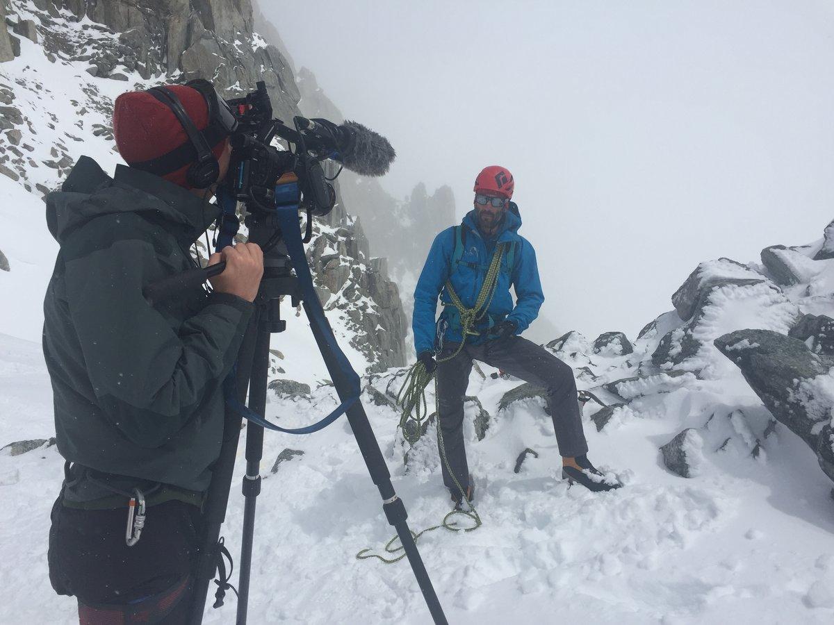Pete Mason of Chamex talks UKC's Nick Brown through safe glacier travel, 141 kb