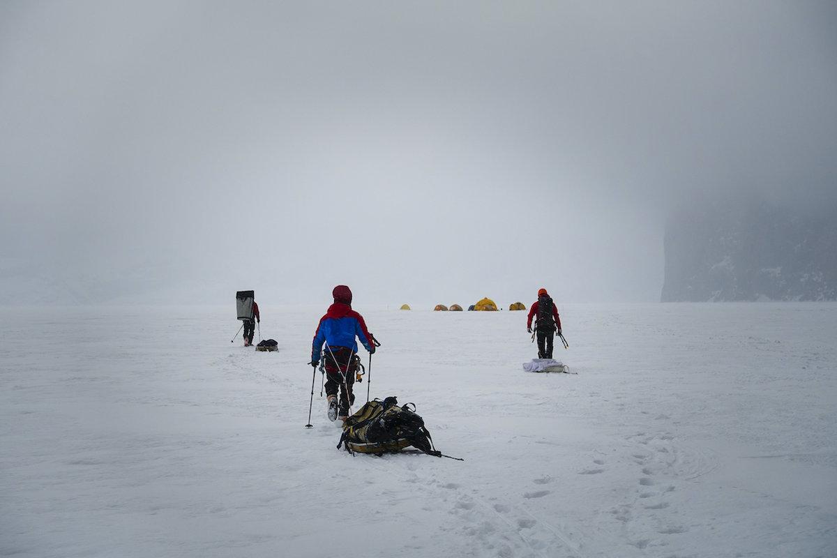 The team on Gibbs Fjord glacier, 81 kb