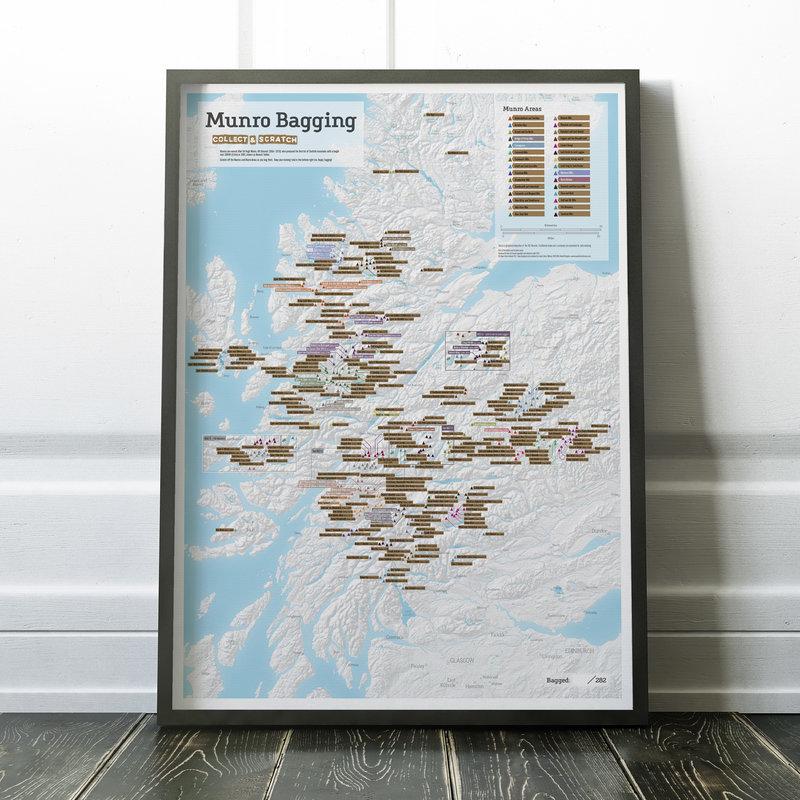 Munro Map Framed, 166 kb