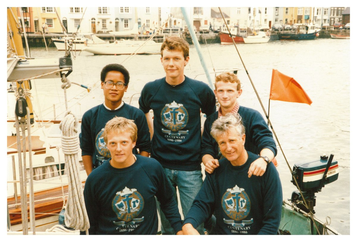 First crew to sail across to Portland (Maine) 1986, 199 kb
