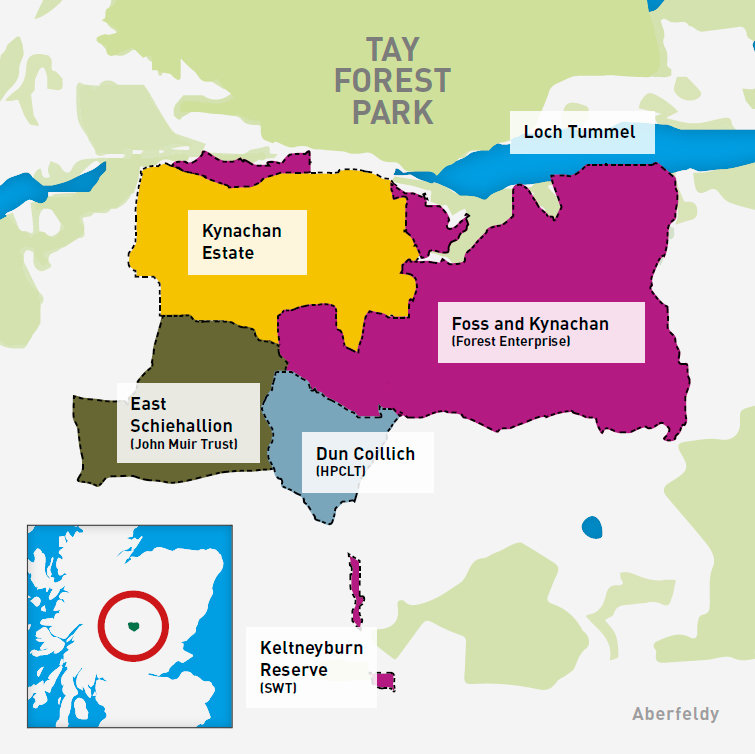 Heart of Scotland Forest Partnership map, 118 kb