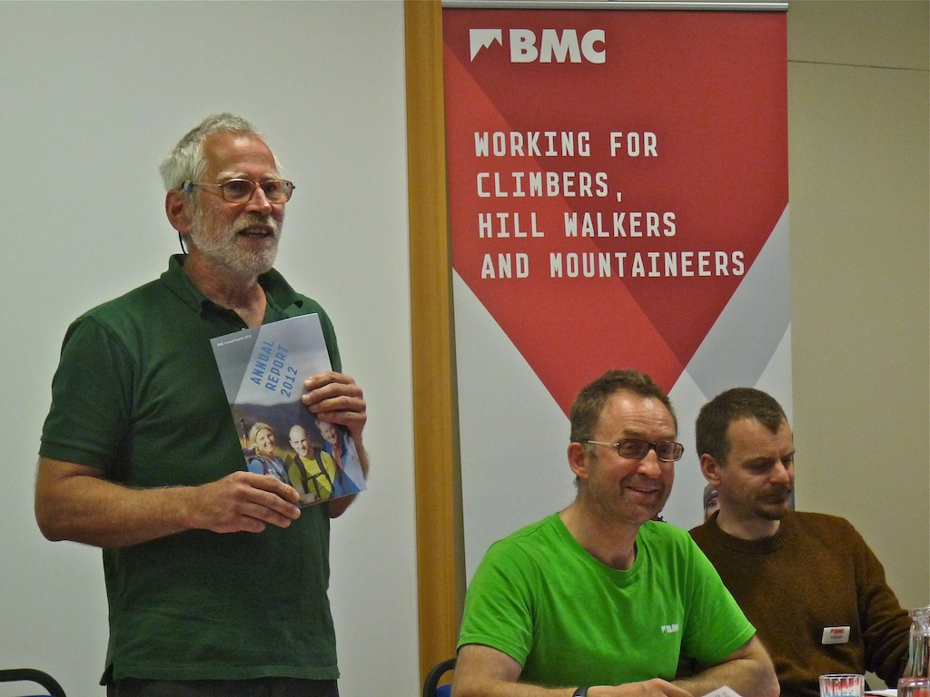Ed in his role as Vice President of the BMC at an AGM with Scott Titt and Dave Turnbull in 2012., 211 kb