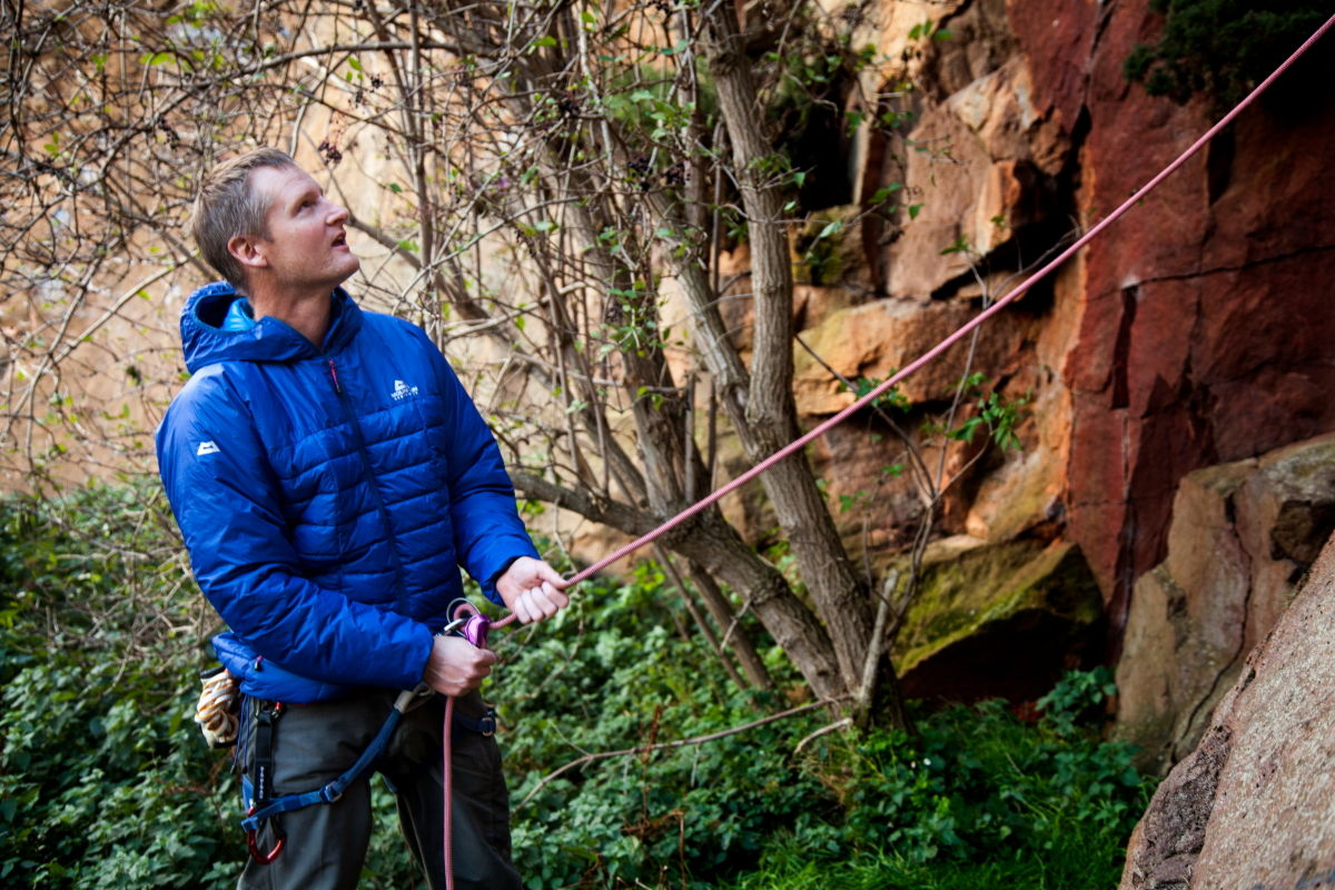 Like a real down jacket, it's perfect for hanging out at the crag, 235 kb