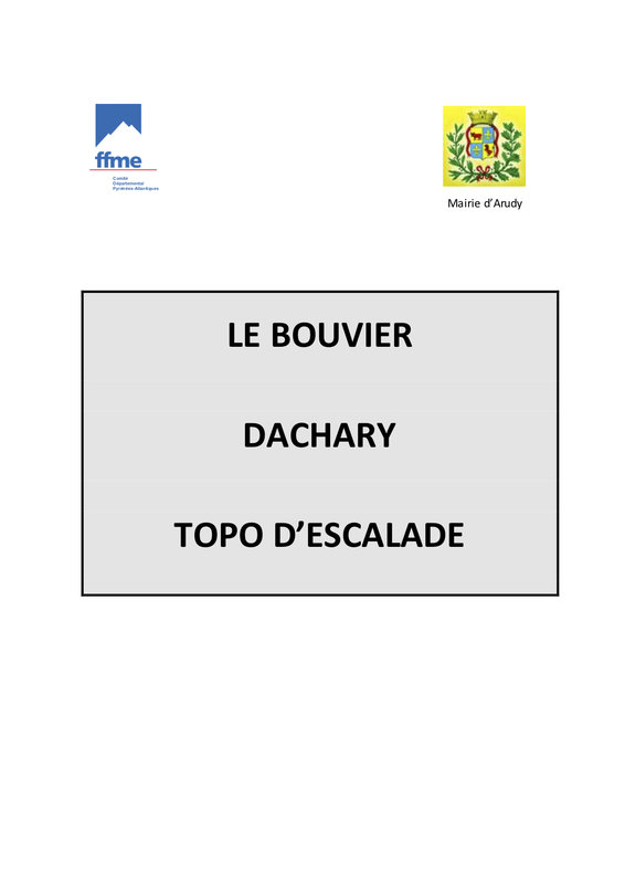 Le Bouvier Dachary Topo D'Escalade Cover, 24 kb